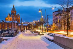 L'hiver à Helsinki Images libres de droits