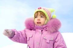 l'hiver heureux de petite fille Image stock