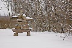 L'hiver Inukshuk Photo libre de droits