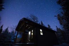 l'hiver magique de nuit Photos stock