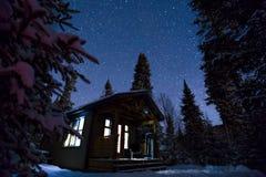 l'hiver magique de nuit Photos libres de droits