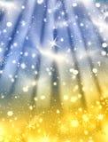 l'hiver magique de nuit Image stock