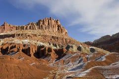 L'hiver, neige au récif N.P. de capitol. Photographie stock libre de droits