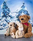 L'hiver Noël amis Animal d'ours Images stock