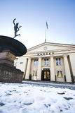 L'hiver norvégien 4 d'échange courant photographie stock libre de droits