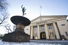 L'hiver norvégien d'échange courant Photos stock