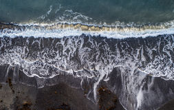 l'hiver nuageux de temps de littoral de plage Image libre de droits