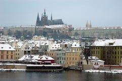 L'hiver Prague Photographie stock libre de droits
