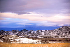 l'hiver rural de saison de zone image stock