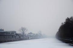 L'hiver silencieux Images libres de droits