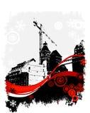 L'hiver, site industriel Photographie stock libre de droits