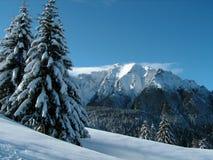 L'hiver sur des montagnes photo libre de droits