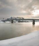L'hiver sur la rivi?re Images libres de droits