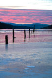 L'hiver sur le d'Alene de Coeur de lac. Photographie stock