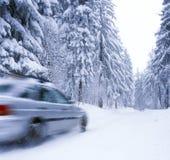 L'hiver sur les routes Photos libres de droits