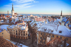 L'hiver Tallinn Photo libre de droits