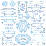L'hiver tourbillonne décor Frontière, vue, ensemble de ruban Images libres de droits