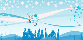 L'hiver urbain Photo stock