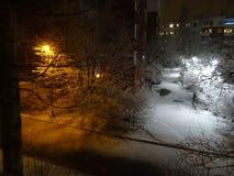 L'hiver vient un peu tard mais est chaque chose bien ? Images libres de droits