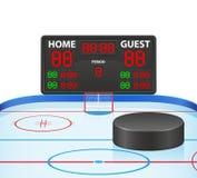 L'hockey mette in mostra l'illustrazione digitale di vettore del tabellone segnapunti Immagine Stock