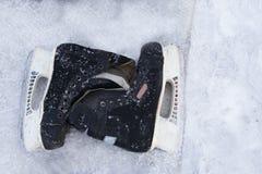 L'hockey première génération du ` s patine, prépare à de nouvelles victoires Image libre de droits