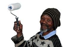 l'homme africain s'est inquiété Image libre de droits