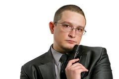 L'homme avec l'arme à feu Photos libres de droits