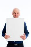L'homme avec la tête chauve dedans indique une toile images libres de droits