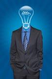 L'homme avec les bonnes idées Image stock