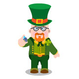 L'homme avec un diamant Jour de St Patrick s Images libres de droits