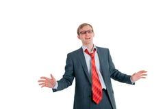 L'homme chanteur l'homme d'affaires Photo stock