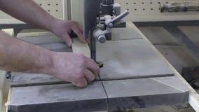 L'homme coupe un morceau banque de vidéos