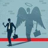 L'homme d'affaires abstrait est ange dans le déguisement. illustration libre de droits