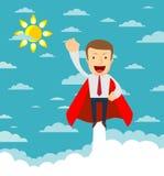 L'homme d'affaires abstrait pilote ascendant comme une fusée Concept de Starup illustration libre de droits