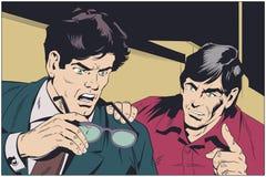 L'homme d'affaires aide le collègue avec le conseil Illustration courante illustration libre de droits