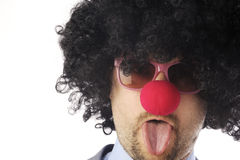 L'homme d'affaires aiment un clown Photo libre de droits