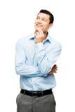 L'homme d'affaires asiatique a l'idée d'isolement sur le blanc Image libre de droits