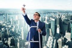 L'homme d'affaires avec la récompense d'étoile dans le concept d'affaires Photographie stock