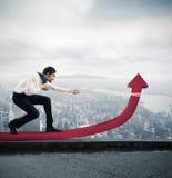 L'homme d'affaires change des statistiques Image libre de droits