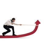 L'homme d'affaires change des statistiques Image stock