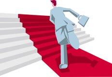 L'homme d'affaires court sur l'escalier Avenue bienvenue illustration stock