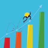 L'homme d'affaires d'argent de pièce de monnaie sautent vers le haut de l'illustration Illustration Stock