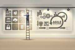 L'homme d'affaires dans le concept agile de développement de logiciel Images stock