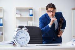 L'homme d'affaires dans le concept de gestion de mauvais moment Photos libres de droits