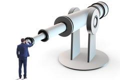 L'homme d'affaires dans le concept d'affaires de planification financière Photos libres de droits