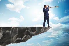 L'homme d'affaires dans le concept d'affaires de planification financière Image stock
