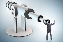 L'homme d'affaires dans le concept d'affaires de planification financière Image libre de droits