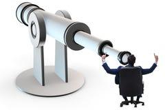 L'homme d'affaires dans le concept d'affaires de planification financière Photos stock