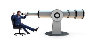 L'homme d'affaires dans le concept d'affaires de planification financière Photo libre de droits