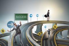 L'homme d'affaires dans le concept de réussite commerciale Photos stock
